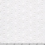 Rebecca Embroideries Fabric Flower Eyelet White Fabric