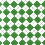 Remix Argyle Diamond Kelly Green Fabric