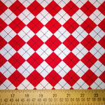 Remix Argyle Diamond Red Fabric