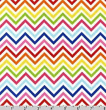 Remix Chevrons Zig Zag Bright Fabric