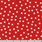 Remix Scattered Dot Red Fabric