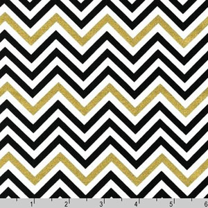 Remix Ebony Metallic Gold and Black Fabric