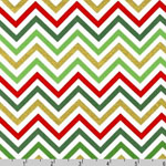 Remix Chevrons Christmas Fabric