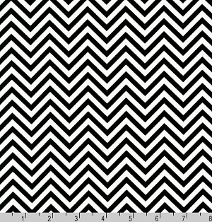 Remix Chevrons Zig Zag Black Fabric