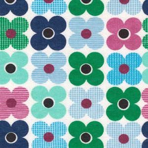 Remix Knit Floral Flower Fabric