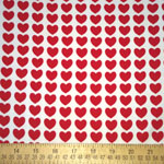 Remix Knit Heart Print Red Fabric