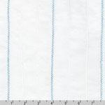 Rick Rack and Ribbons Blue Zig Zag Pin Tuck Fabric