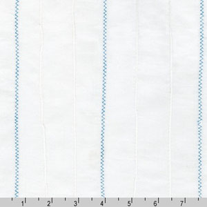 Rick Rack and Ribbons Blue Zig Zag Pin Tuck Fabric