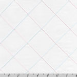 Rick Rack and Ribbons Pin Tuck Diamond White Fabric