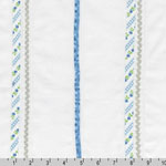 Rick Rack and Ribbons Deluxe Pin Tuck Blue Fabric