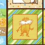 Celebrate Seuss 2 Panel Brown Fabric