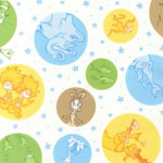 Celebrate Seuss 2 Character Bubble Dots Multi Colored Fabric