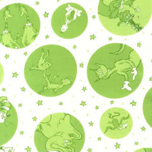 Celebrate Seuss 2 Bubble Dots Green Fabric