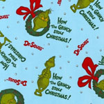 How the Grinch Stole Christmas 2 Blue Fabric