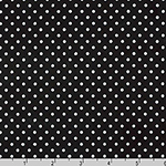 Sevenberry Petite Basics Polka Dot Black Fabric