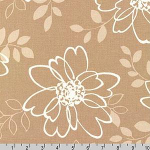 Sevenberry Canvas Cotton Flax Prints Fabric Natural