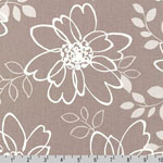 Sevenberry Canvas Cotton Flax Prints Fabric Ash