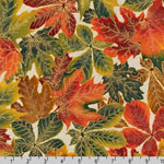 Shades of the Season 9 Autumn LeavesFabric