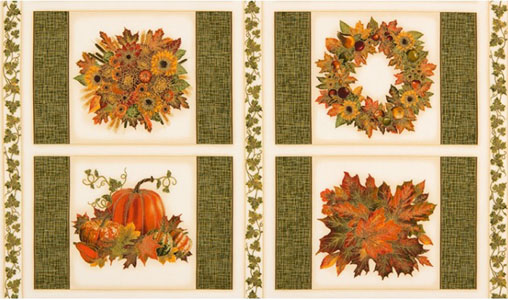 Shades of the Season 9 Thanksgiving Panel Fabric