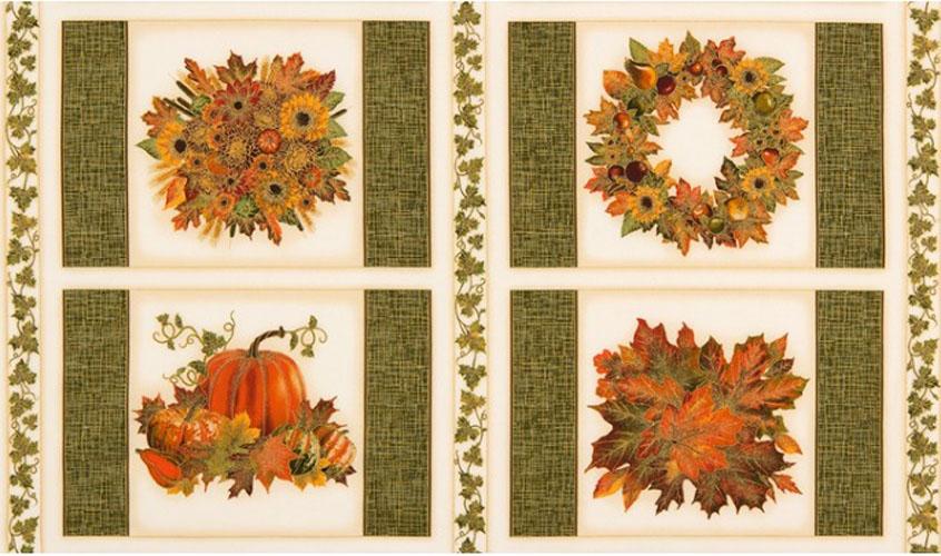 Shades of the Season 9 Thanksgiving Panel Fabric