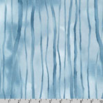 Sounds of the Woods Tree Winter Watercolor Blue Fabric