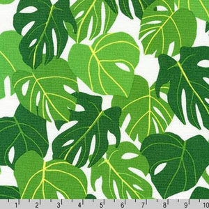 Sunporch Leaf Philodendron Tropical Fabric