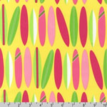 Surf Time Pink Surfboards Yellow Fabric