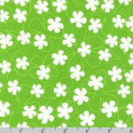 Surf Time Floating Flowers Green Fabric