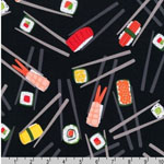 Chopsticks Please Sushi Chopstick Black Fabric