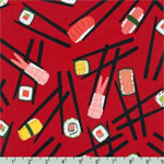 Chopsticks Please Sushi Chopstick Red Fabric
