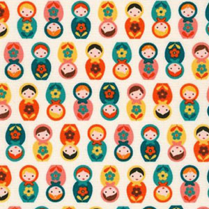 Suzy's Mini Nesting Doll Reto Fabric