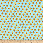 Suzy's Mini Bee Sky Blue Fabric