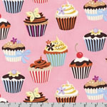 Sweet Tooth Cupcake Fabric Petal Pink