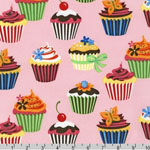 Sweet Tooth Cupcake Camellia Pink Fabric