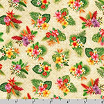 Tropical Gardens Aloha Iki Tiny Flower Bouquet Fabric