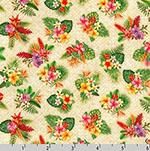Tropical Gardens Aloha Iki Tiny Flower Bouquet Fabric