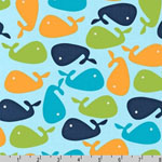Urban Zoologie Whales Bermuda Fabric