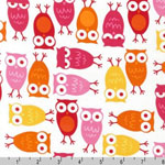 Urban Zoologie Owl Pink Fabric