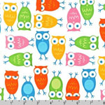Urban Zoologie Owl White Fabric