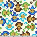 Urban Zoologie Monkeys Royal Fabric