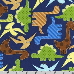 Urban Zoologie Dinosaurs Navy Fabric