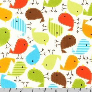 Urban Zoologie Birds Bermuda Fabric