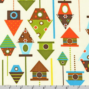 Urban Zoologie Birdhouse Bermuda Fabric