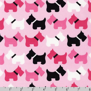 Urban Zoologie Dogs Pink Fabric