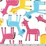Urban Zoologie Horses Spring Fabric