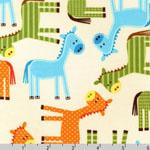 Urban Zoologie Horses Bermuda Fabric