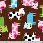Urban Zoologie Cows Spring Fabric