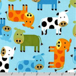 Urban Zoologie Cows Bermuda Fabric
