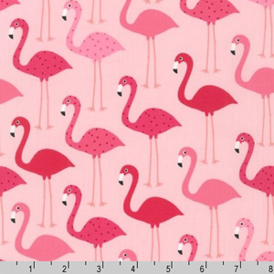 Urban Zoologie Flamingos Pink Fabric