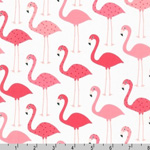 Urban Zoologie Flamingos Pink White Fabric